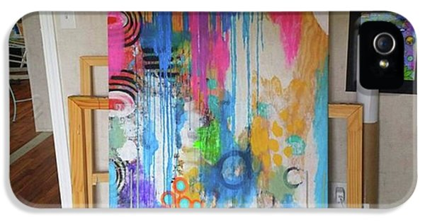 iPhone 5s Case - Working On A New Plywood..5 Ft X 3.5 Ft by Robin Mead