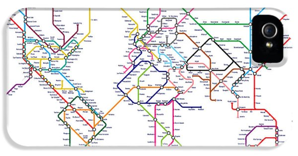 World Metro Tube Map IPhone 5s Case by Michael Tompsett