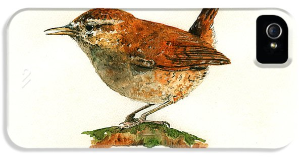 Wren Bird Art Painting IPhone 5s Case by Juan  Bosco