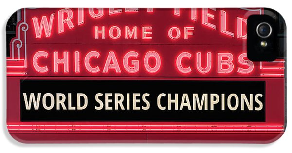 Wrigley Field Marquee Cubs World Series Champs 2016 Front IPhone 5s Case