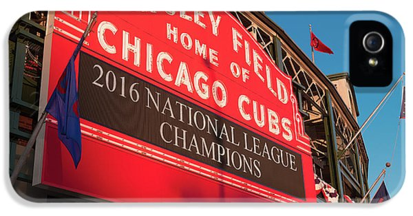 Wrigley Field Marquee Angle IPhone 5s Case by Steve Gadomski