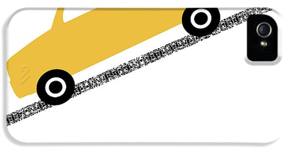 Truck iPhone 5s Case - Yellow Truck On Road- Art By Linda Woods by Linda Woods