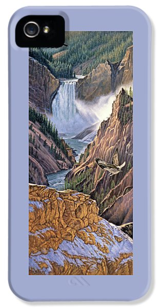 Yellowstone Canyon-osprey IPhone 5s Case by Paul Krapf