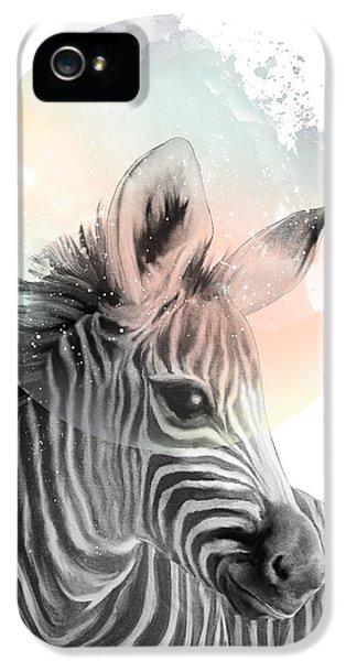 Zebra iPhone 5s Case - Zebra // Dreaming by Amy Hamilton