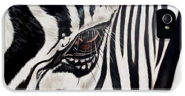 Animals iPhone 5s Case - Zebra Eye by Ilse Kleyn