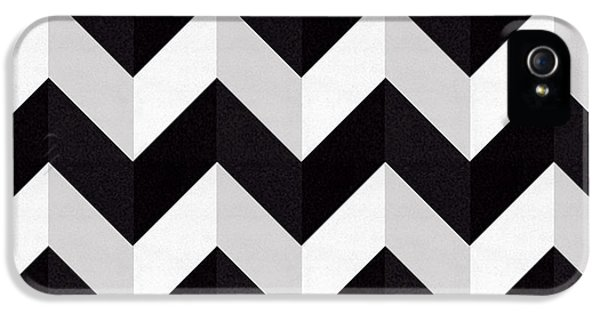 Pattern iPhone 5s Case - Zig Zag - Shadow by Chuck Staley