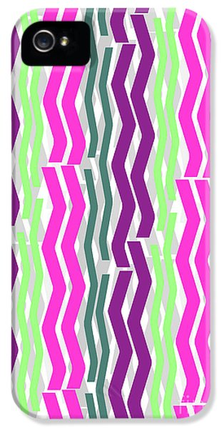 Zig Zig Stripes IPhone 5s Case