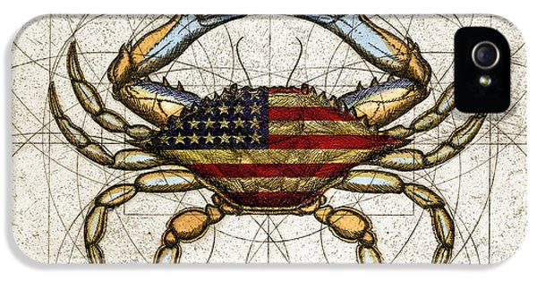 Etching iPhone 5s Case - 4th Of July Crab by Charles Harden