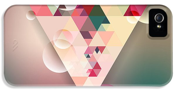Pastel Colors iPhone 5s Case - Abstract Geometric Background With by Olha Kostiuk