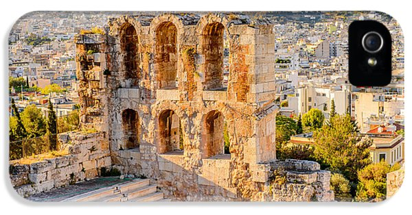 Facade iPhone 5s Case - Amphitheater Of The Acropolis Of by Anton ivanov