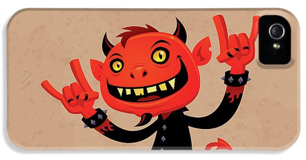 Music iPhone 5s Case - Heavy Metal Devil by John Schwegel