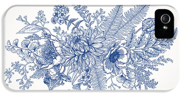 Etching iPhone 5s Case - Bouquet With A Vintage Garden With by Lisla
