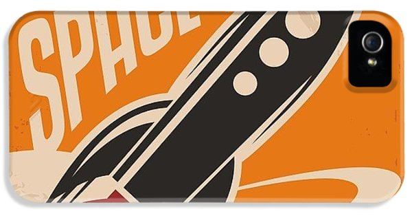 1950s iPhone 5s Case - Creative Design Concept With Rocket And by Lukeruk