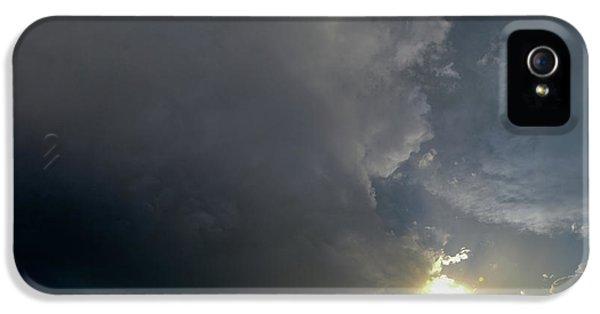 Nebraskasc iPhone 5s Case - Dying Nebraska Thunderstorms At Sunset 010 by NebraskaSC
