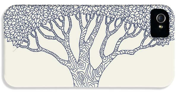 Etching iPhone 5s Case - Forest Oak Tree Isolated. Vector Botany by Oksanka007