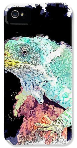 Far North Queensland iPhone 5s Case - Hartley's Crocodile Adventures, Wangetti, Australia -  Watercolor By Adam Asar by Adam Asar