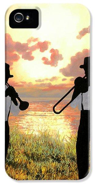 Trombone iPhone 5s Case - Jazz Al Tramonto by Guido Borelli