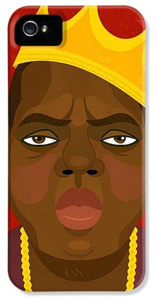 Biggie iPhone 5s Case - Notorious Big by Nicole Wilson