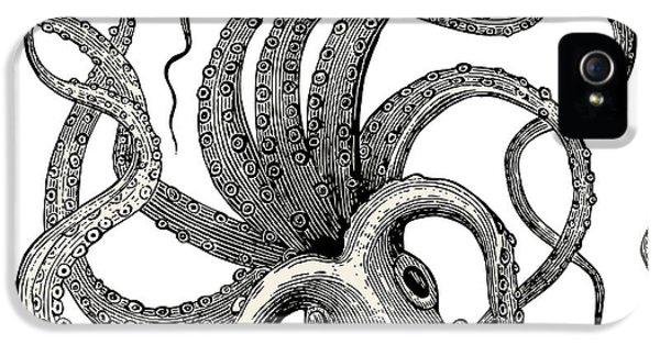 Etching iPhone 5s Case - Octopus Octopus Vulgaris - Vintage by Lynea
