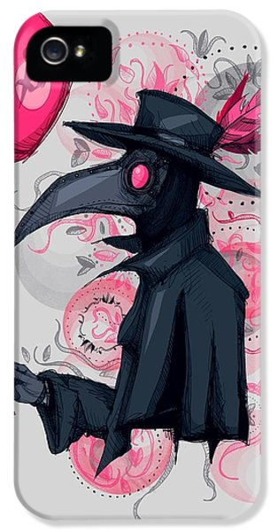 Doctor iPhone 5s Case - Plague Doctor Balloon by Ludwig Van Bacon
