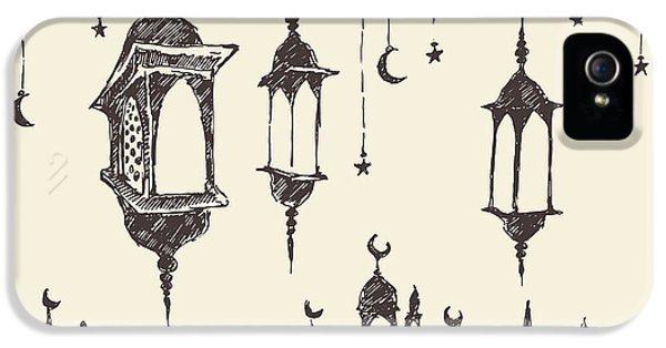 Etching iPhone 5s Case - Ramadan Celebration Vintage Engraved by Grop
