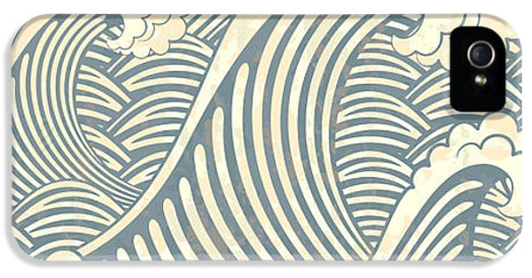 Etching iPhone 5s Case - Seamless Pattern With Waves by Il67