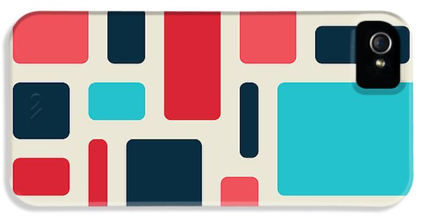 Pastel Colors iPhone 5s Case - Soft Geometric Pattern In Retro by Vector Fx
