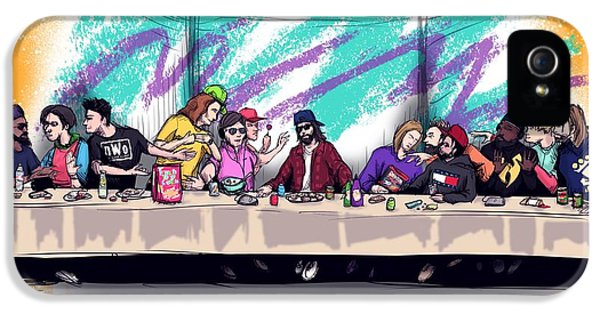 Nostalgia iPhone 5s Case - The Last 90s Supper by Ludwig Van Bacon