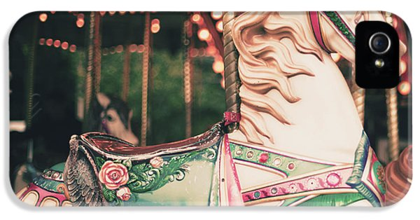 Pastel Colors iPhone 5s Case - Vintage Carousel Horse by Andrekart Photography