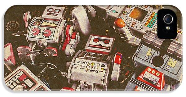 Nostalgia iPhone 5s Case - Vintage Robotronics by Jorgo Photography - Wall Art Gallery
