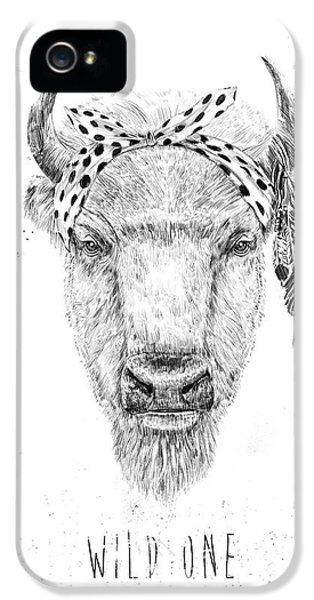 Bull iPhone 5s Case - Wild One  by Balazs Solti