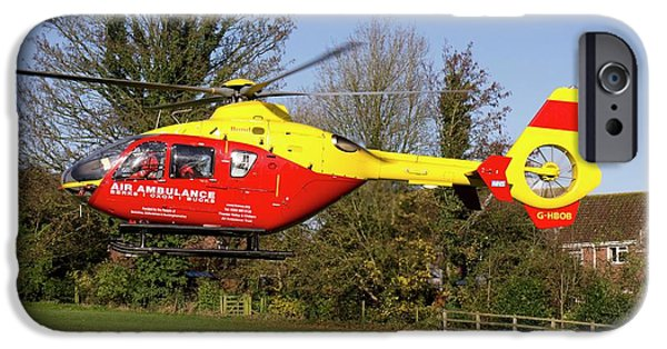 Donation iPhone 6 Case - Air Ambulance Helicopter by Sheila Terry
