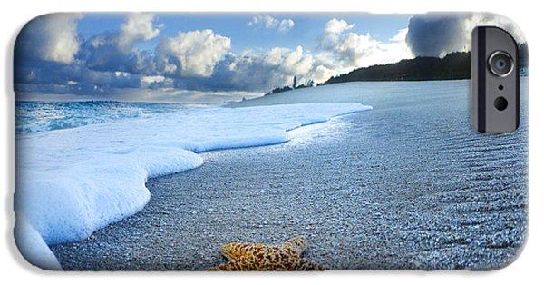 Ocean iPhone 6 Case - Blue Foam Starfish by Sean Davey