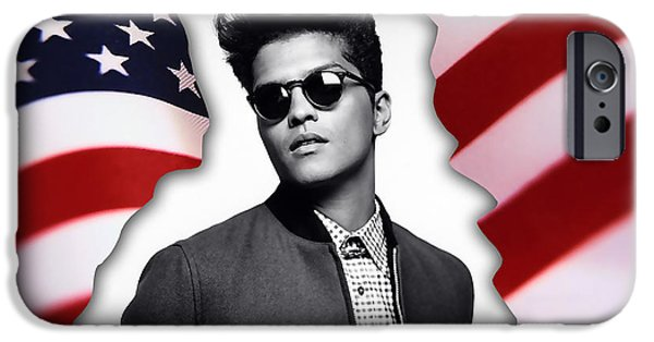 Bruno Mars IPhone 6 Case by Marvin Blaine