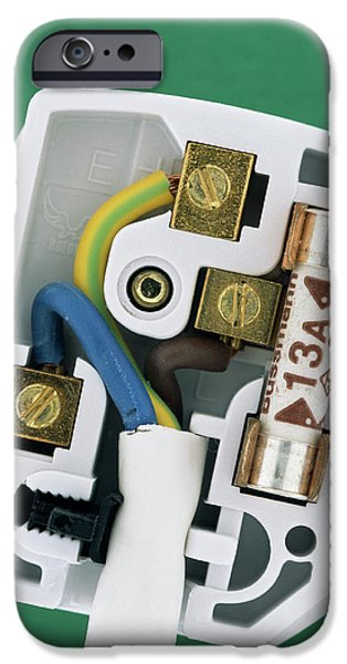 Safety Fuse iPhone 6 Case - Electric Plug by Adrienne Hart-davis/science Photo Library