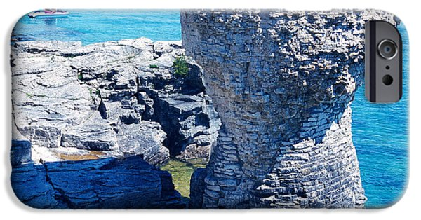 Jet Ski iPhone 6 Case - Rock Formations, Bruce Peninsula by Panoramic Images
