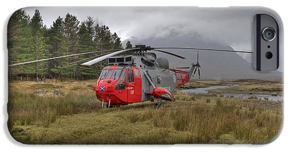 Royal Navy Sar Sea King Xz920 Glencoe IPhone 6 Case by Gary Eason
