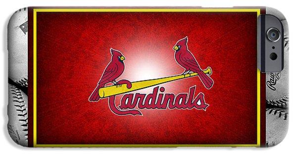 Bat iPhone 6 Case - St Louis Cardinals by Joe Hamilton