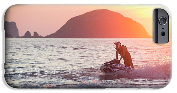 Jet Ski iPhone 6 Case - Stand Up Jet Ski Rider  Sessioning by Marcos Ferro