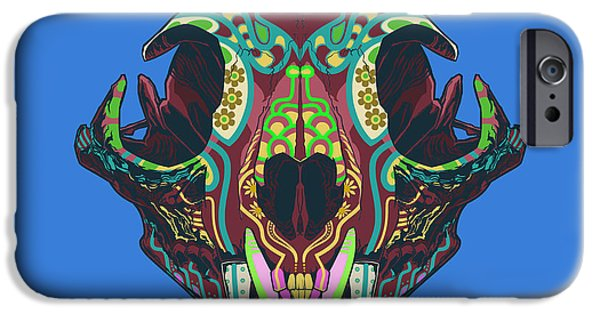 Folk Art iPhone 6 Case - Sugar Lynx  by Nelson Dedos Garcia