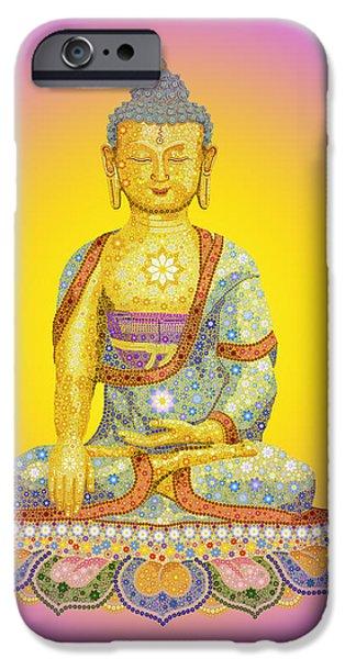 Buddhism iPhone 6 Case - Sun Buddha by Tim Gainey
