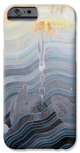 Contemporary iPhone 6 Case - the escape of Ray Charles by Sandra Cohen