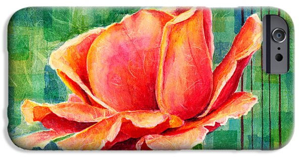 Red Rose iPhone 6 Case - Valentine Rose by Hailey E Herrera