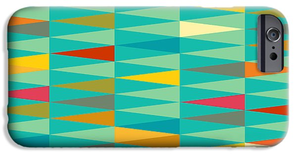Illusion iPhone 6 Case - Vector Abstract Geometric Triangle by Babayuka