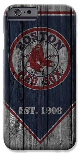 Bat iPhone 6 Case - Boston Red Sox by Joe Hamilton