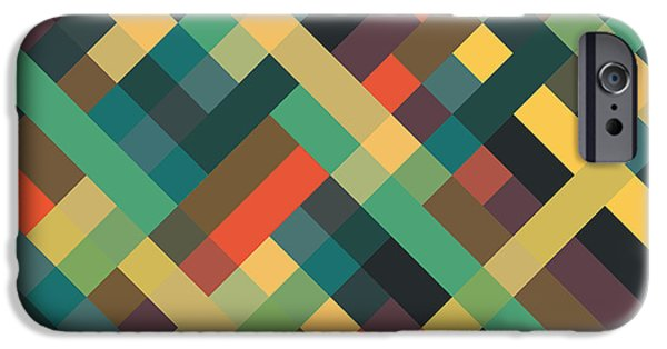 Retro iPhone 6 Case - Geometric by Mike Taylor