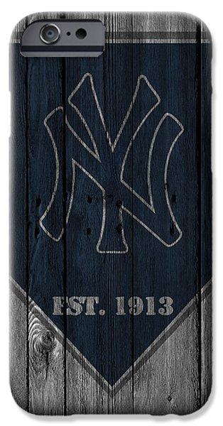 Bat iPhone 6 Case - New York Yankees by Joe Hamilton