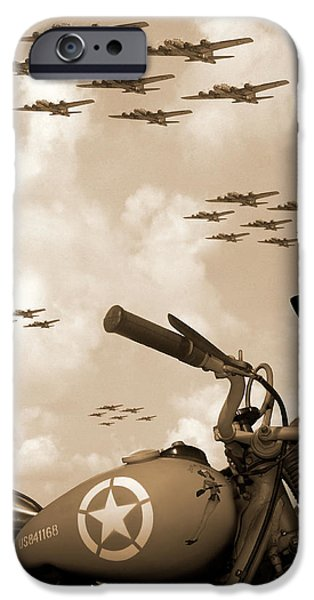 Sepia iPhone 6 Case - 1942 Indian 841 - B-17 Flying Fortress' by Mike McGlothlen