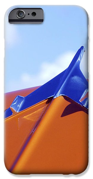 1956 iPhone Cases - 1956 Chevrolet Belair Hood Ornament iPhone Case by Jill Reger