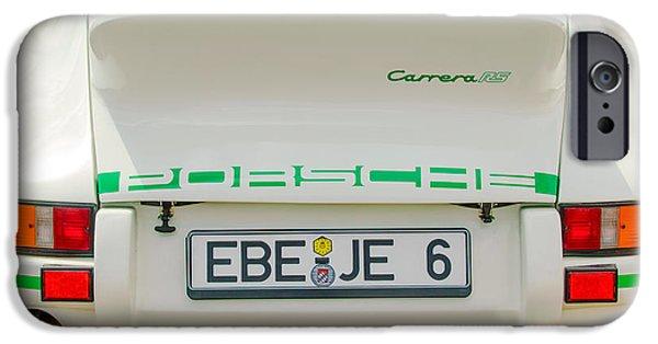 Lightweight iPhone Cases - 1973 Porsche 911 RS Lightweight Rear Emblems iPhone Case by Jill Reger